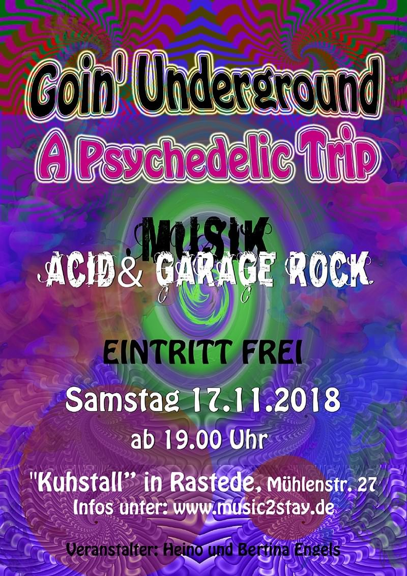 Psychedelic-Underground-Party im 'Kuhstall' Rastede
