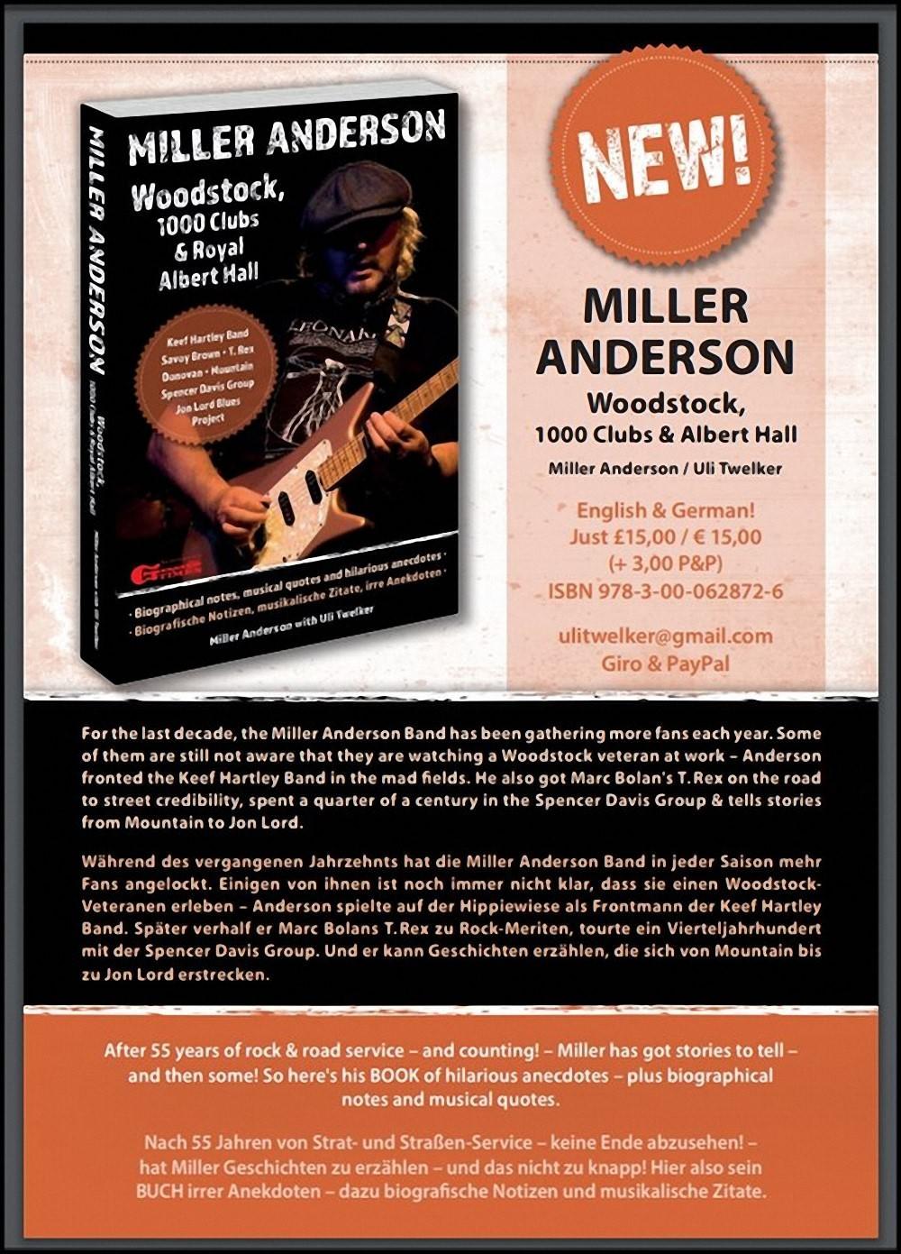 Autorenlesung mit Uli Twelker - Biografie Miller Anderson