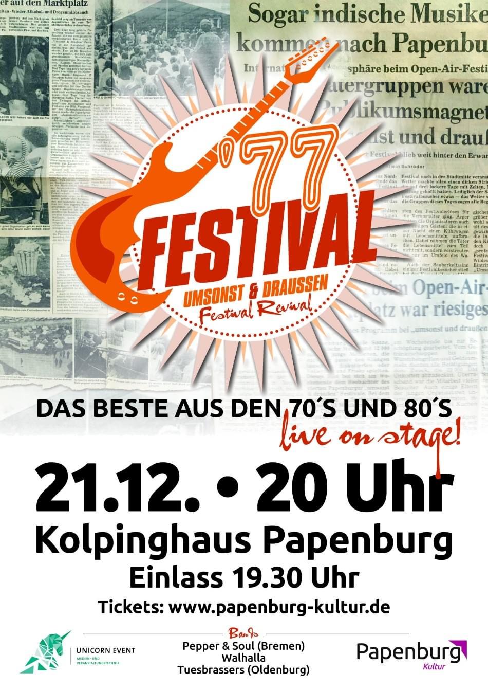 '77 Festival Umsonst & Draussen Papenburg Revival Festival