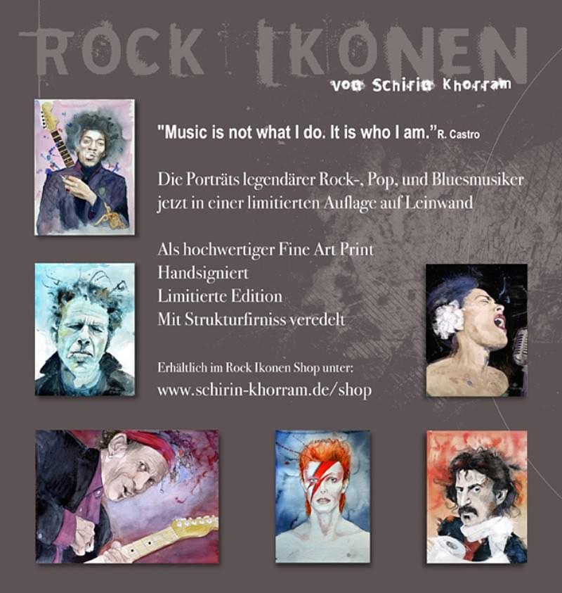 Rock Ikonen Flyer Schirin Khorram Rückseite