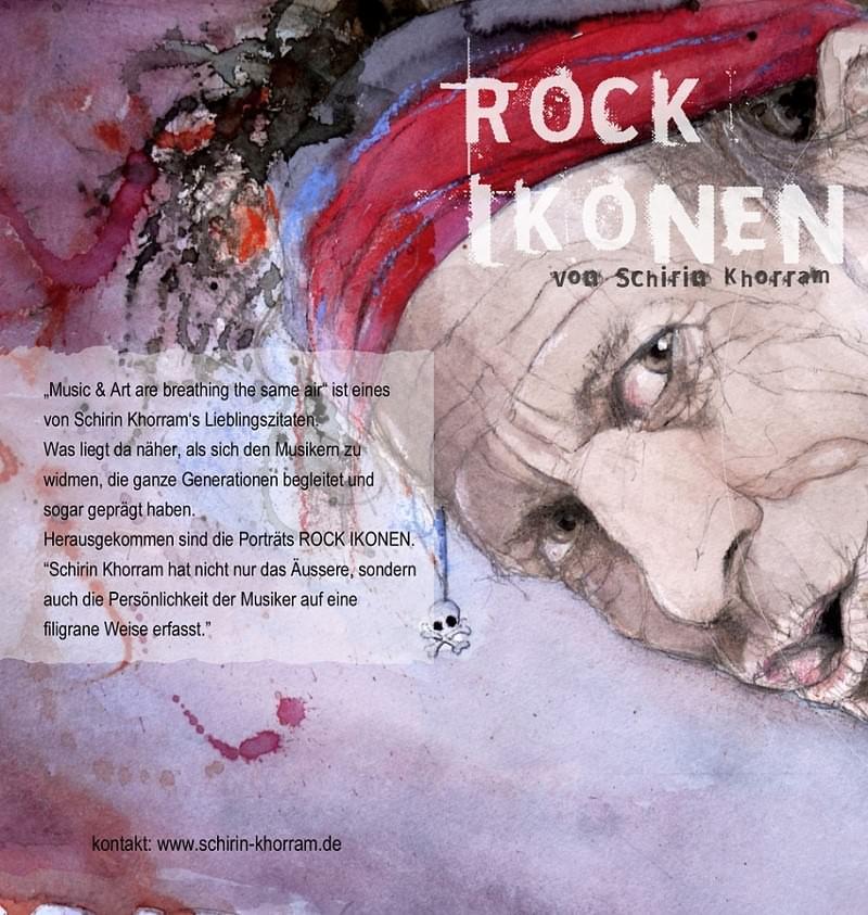 Rock Ikonen Flyer Schirin Khorram Vorderseite